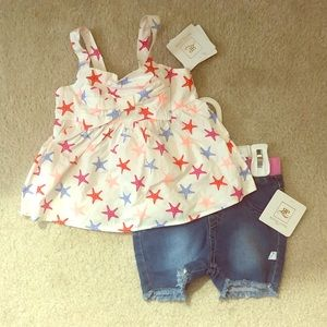 Two Piece short and top Rosie Pope outfit